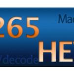 MacでH.265の対応状況を調べてみた